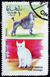 Postage stamp Oman 1972 Cat and Dog